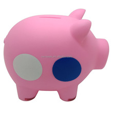 2015 whole sale personalized plastic piggy bank,kids plastic piggy bank,coin counting piggy bank