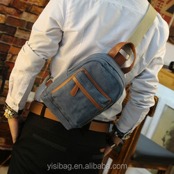 canvas waist bag for ipad with shoulder strap