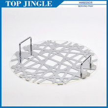 TOP JINGLE ABSTRACT TOTEM DESIGN ROUND SERVING TRAY