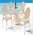 Cheap outdoor furniture sets modern rattan wicker restaurant armchair with round table