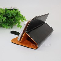 Universal smart phone wallet style double-sides use leather case for iphone 6s and all mobile phone