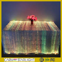 Glowing fiber optic fashion rosette wedding table cloth