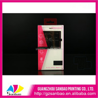 customized cellphone case packaging, phone case packaging box with PVC window