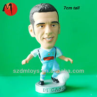 plastic soccer player action figure football figure