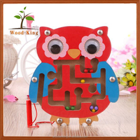 Wholesale New Infants Wooden Ball Labyrinthine Intelligence Creative Children'S Puzzle Baby Brain Development Owl Toy