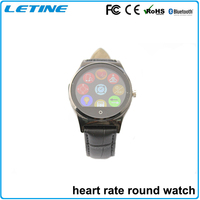 2015 new products electronics round smart watch, heart rate watch with pulse alarm clock,polar watch heart rate monitor ce rohs