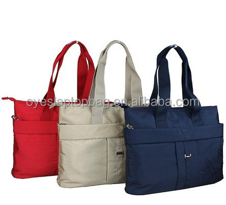 red color ladies nylon tote bag with secret layer
