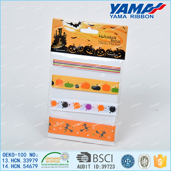 YAMA Custom printed cheap halloween celebrate it ribbon