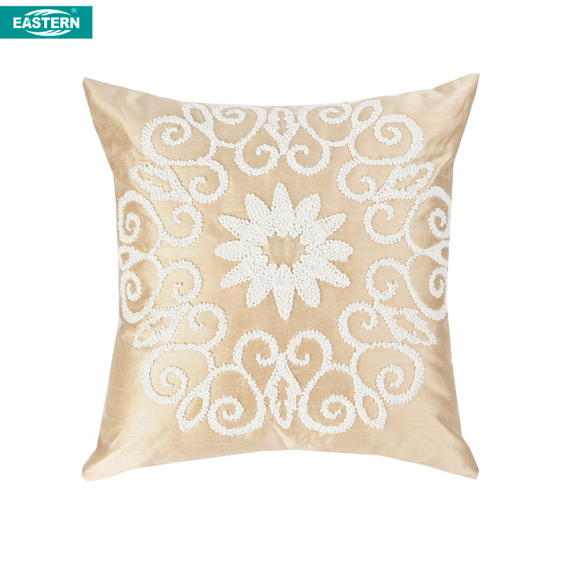 Sunflower pattern Chinese furniture cushion pillow Cover cording embroidery Pillow