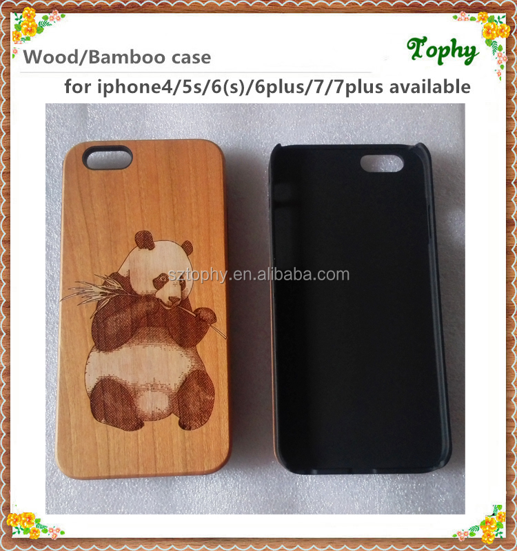 Luxury laser engraving top sale fancy plain wood case for iPhone5, for iPhone 6, for iPhone 7