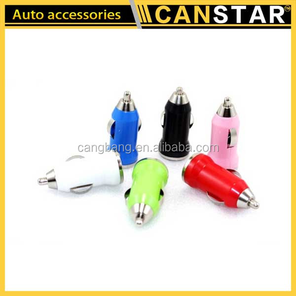 Hot Selling Car Accessories Usb Car Charger Colorful Automatic Mobile Phone Charger