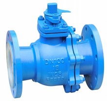 High quality of DN50 PN16 acid medium manual operated cast steel rubber lined ball valve