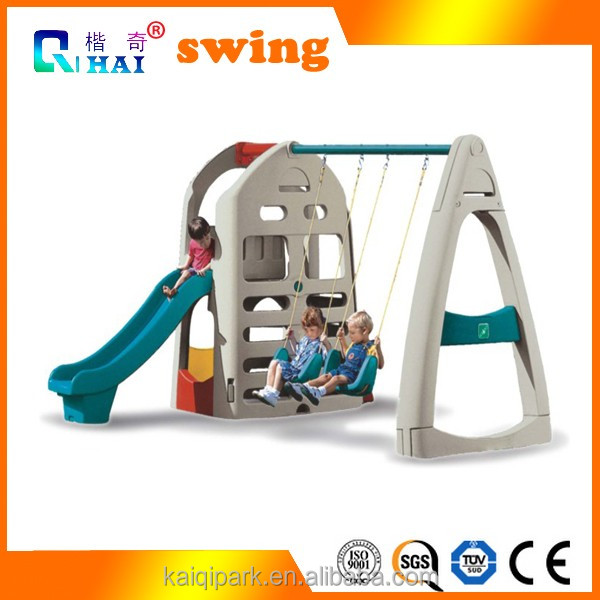 2017 the new most popular wooden baby slide and swing set outdoor playground equipment