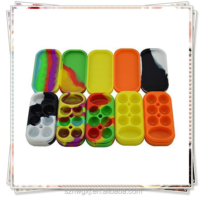Silicone Case Jars Dab Concentrate Oil Wax Container