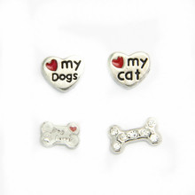 Zinc alloy Lovely pets floating charms for living Memory locket