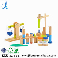 Wooden children's science laboratory simulation toys wooden educational toys