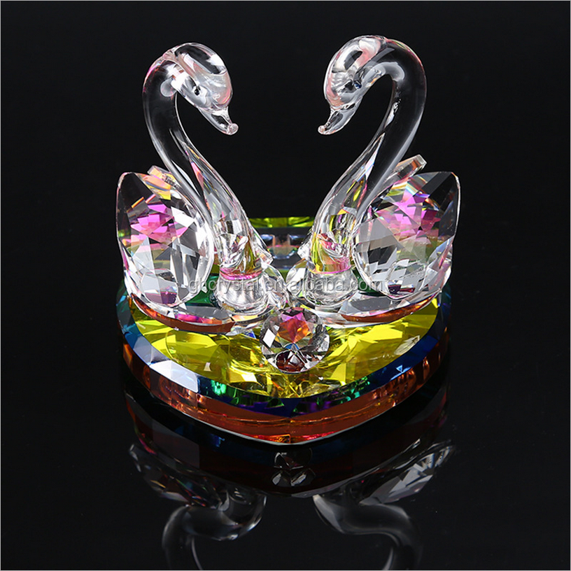 Crystal Collection Kissing Swans for Wedding Gifts