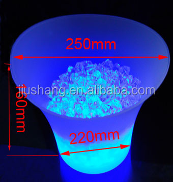 PP LED lighted beer ice bucket with custom design and logo