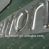 seamless stainless steel backlit advertising LED sign board samples