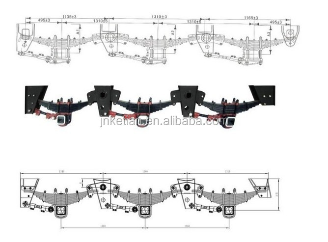 BPW Germany trailer full mechanical suspension kit/assembly