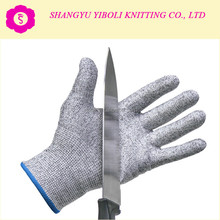 YIBOLI Manufacture New Style HTR anti cut 13 Gauge liner black nitrile dot gloves for anti-cut 5 level