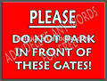 Warning metal signs.No parking metal signs,tin sign