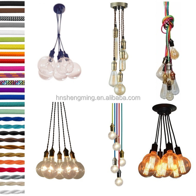 Vintage Style decorative fabric wire cable electrical wire colorful textile cable and wire