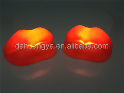 lip shape night light