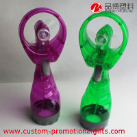plastic water spray fan with water bottle,Multiple colors available mini mist fan