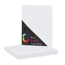 10 pcs / pk 9x12 inch high quality prime artist pure cotton canvas board