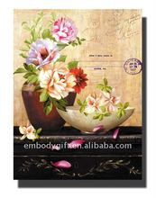 home decor wholesale canvas painting with flower picture