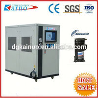 Water cooled low temperature chiller with piston/scroll compressor