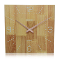 Square Shaped Simple Decorative Customizable 35cm Wooden clock