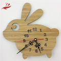 wooden clock with animal themed rose decorated wooden clock