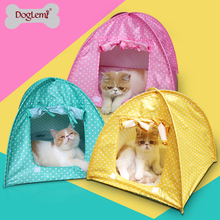 Polka dot cat tent Cute Polka dots Foldable Pet Cat Kitty Tent House Camp Water Resistant