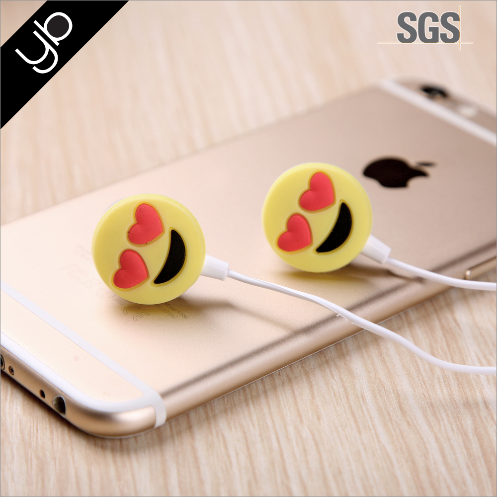 Wholesale hot selling emoji wired earphone bluetooth, in ear sport earphone speaker bass sound alibaba earphone with Mic