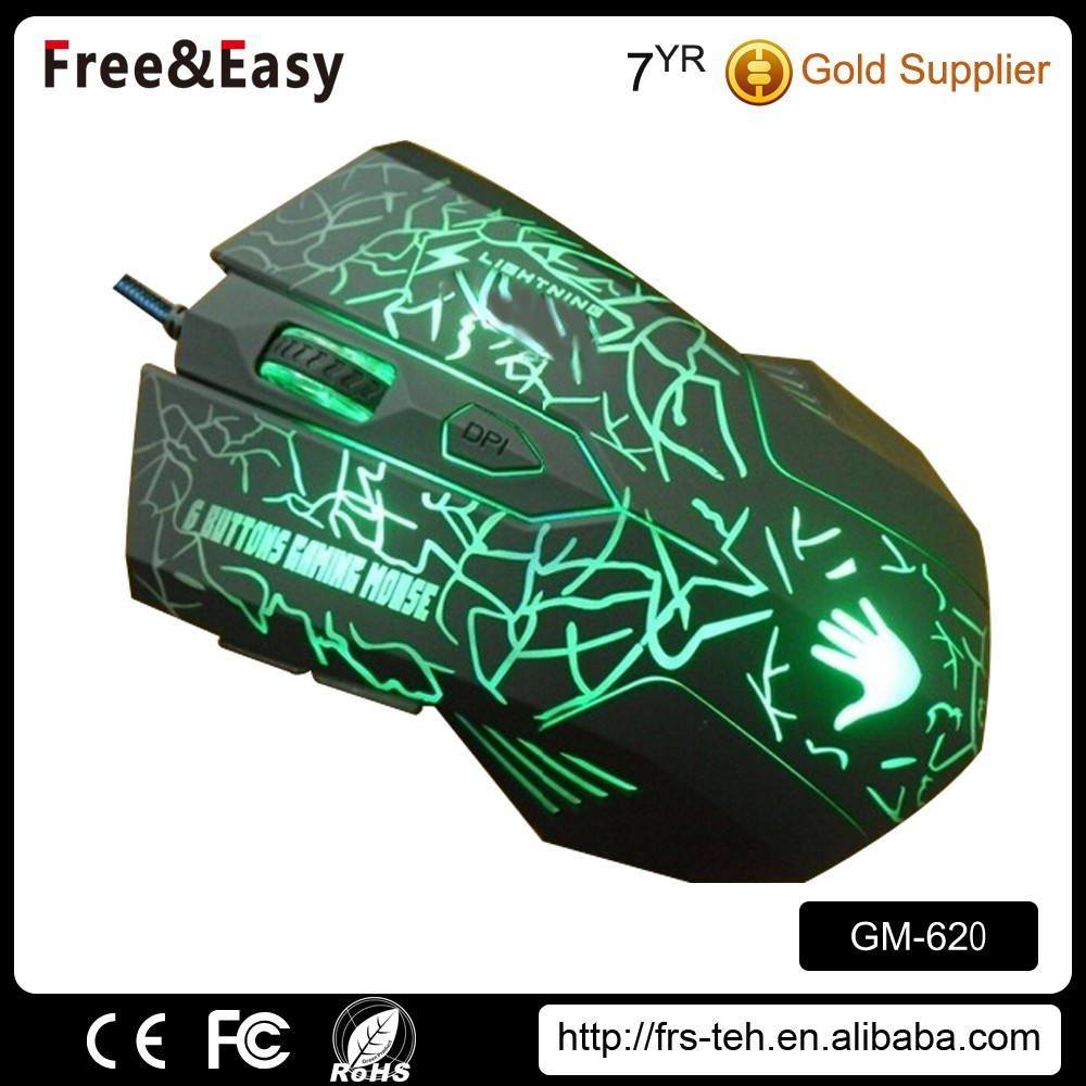 High quality 6D wired USB gamer mouse illumination mouse for computer