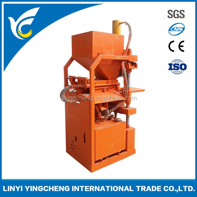 Hot sale high quality qt1-10 semi automatic interlock block machine clay block machine