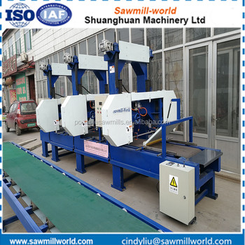 Multiple heads wood cutting band saw blade machine for sale