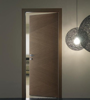 Forest Bright simple design solid wooden flush Engineered veneer room door
