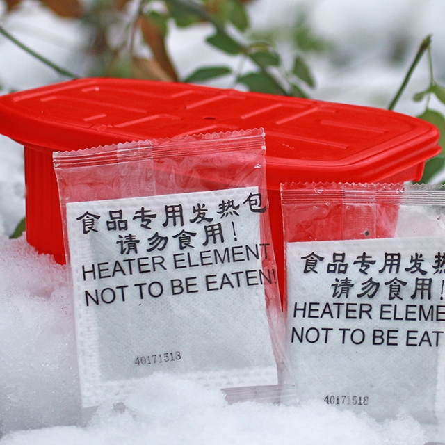 outdoor mre self heating food heater bag pack for meals
