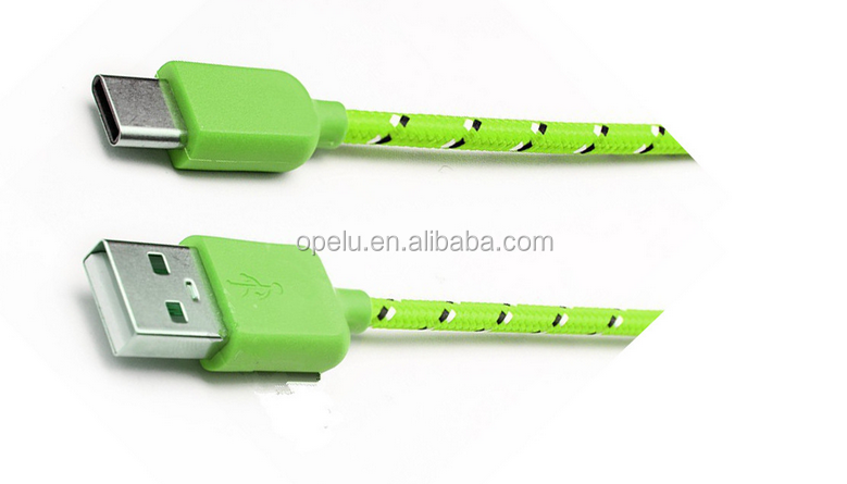 New Arrival Colorful Nylon Braided Charge Data USB 3.1Type C Cable