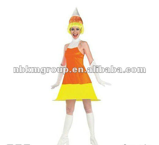 Candy Corn Adult's Costume/Women Party Costume