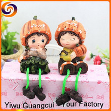 2016 merry happy Halloween pumpkin couple resin crafts doll