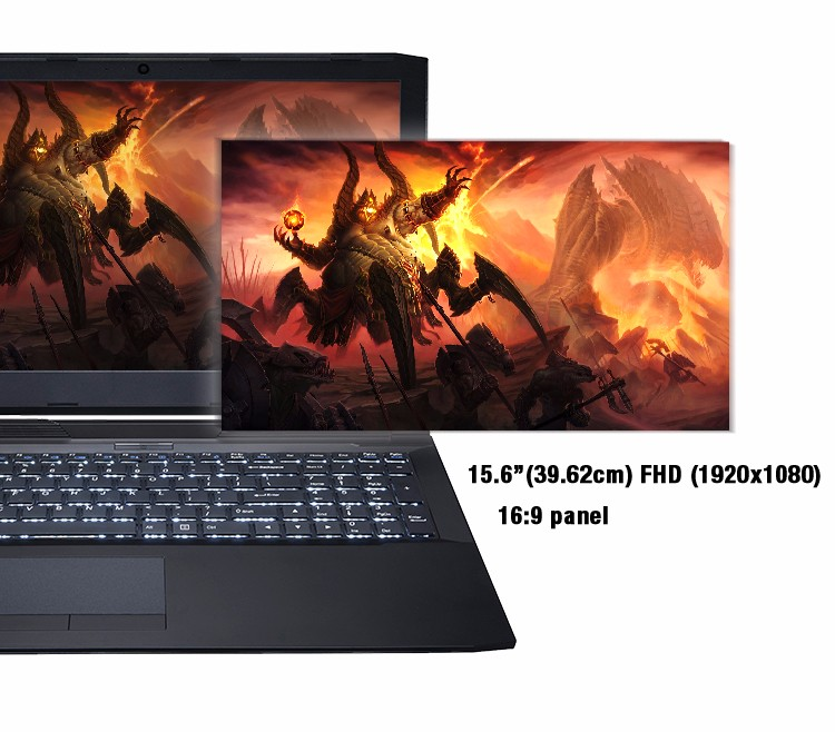 15.6 inch OEM notebook laptop with 8G/16G RAM GTX 940MX