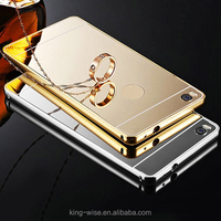 2016 mobile accessory of aluminium metal acrylic back branded cell phone case/ mirror phone case cover for Iphone 6, 6+