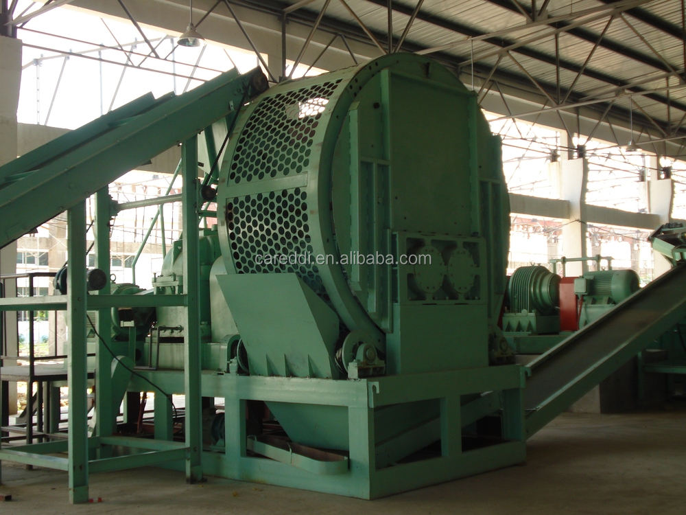 Professinoal used tire shredder for sale/tire recycling machine