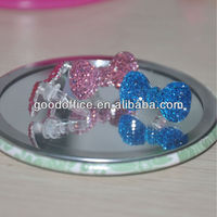 Splendid diamond decoration bowknot design Anti dust ear cap plug