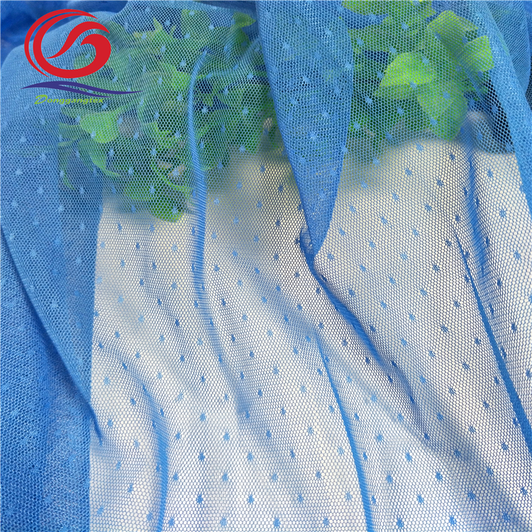 100% polyester mesh fabric with spot flowers number one