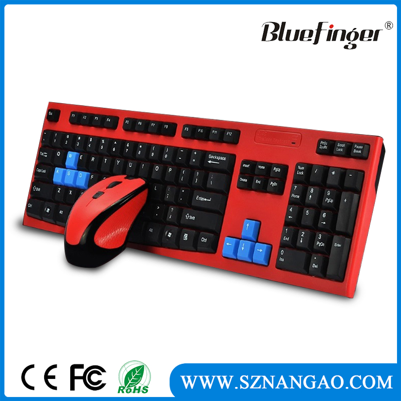 Shenzhen Factory offered wireless mouse keyboard for computer